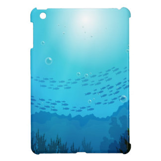 School of fishes under the sea iPad mini cases