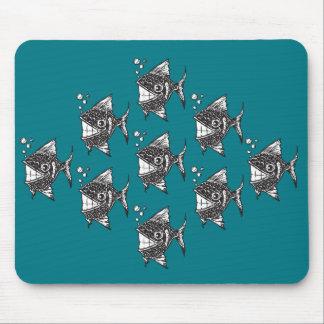 School of Happy Fish Mouse Pad