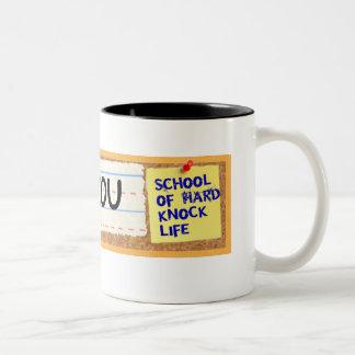 School of Hard Knock Life Two-Tone Coffee Mug