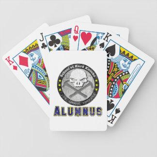 School of Hard Knocks - Alumnus gear Bicycle Playing Cards