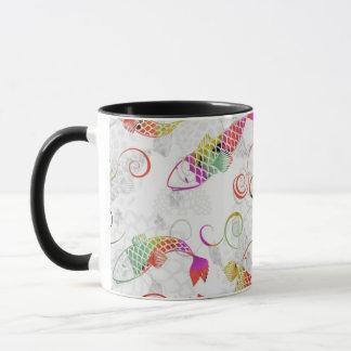 school of koi mug