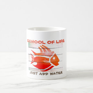 "SCHOOL OF LIFE orange fish ""just add water"" cup"