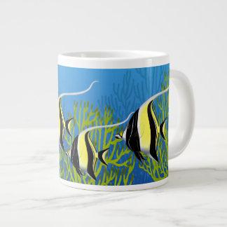 School of Moorish Idol Reef Fish Jumbo Mug