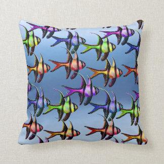 School of Multicolored Banggai Cardinalfish Pillow