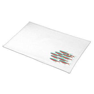 School of Neon Tetras Cloth Placemat