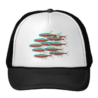 School of Neon Tetras Trucker Hat