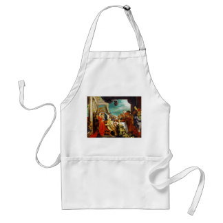 School of Rubens - Alboin and Rosamunde Peter Paul Adult Apron