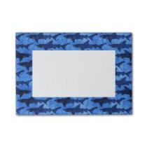 School of Sharks Blue Pattern Post-it Notes