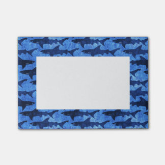 School of Sharks Blue Pattern Post-it® Notes