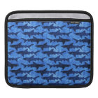 School of Sharks Blue Pattern Sleeve For iPads