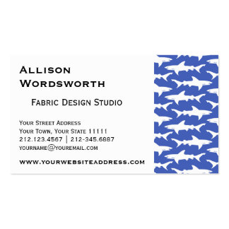 School of Sharks Funny Blue and White Business Card
