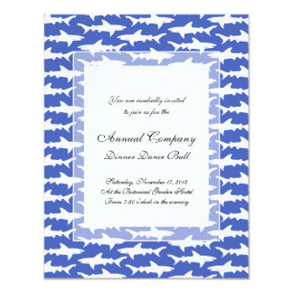 School of Sharks Funny Blue and White Personalized Invite
