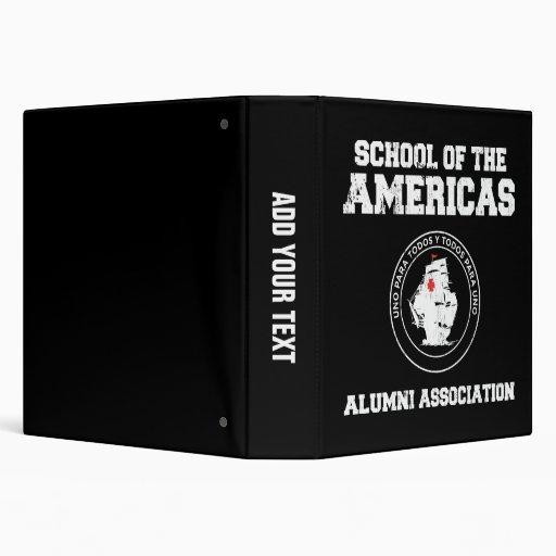 school of the americas alumni 3 ring binder
