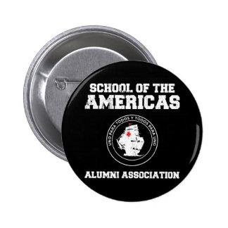 school of the americas alumni pinback button