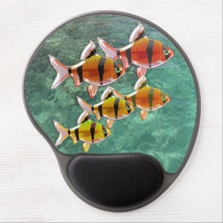 School of Tiger Barb Fish Gel Mouse Pad