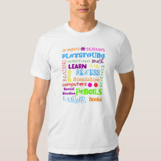 school of word t shirt