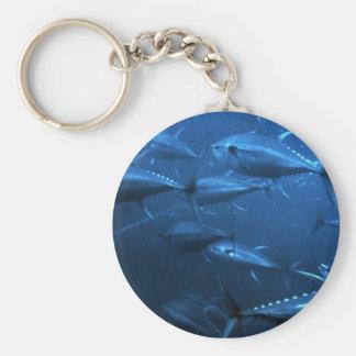 School of Yellowfin Tuna Keychain