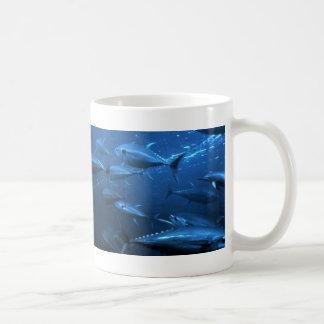 School of Yellowfin Tuna Coffee Mugs