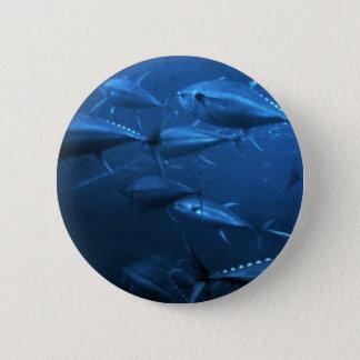 School of Yellowfin Tuna Pinback Button