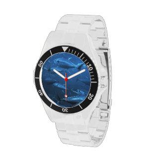 School of Yellowfin Tuna Wrist Watch
