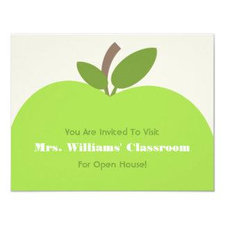 School Open House Invitation - Green Apple