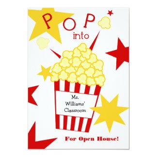 School Open House Invitation - Popcorn