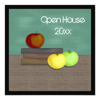 """School Open House Invitations 5.25"""" Square Invitation Card"""