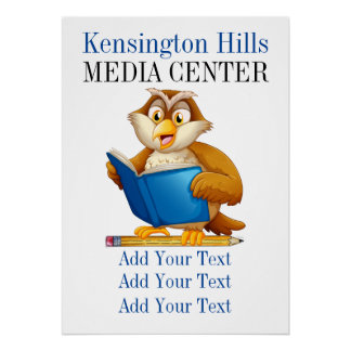 School or Business Media Center / Library Poster