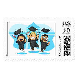 School or College Graduation Cartoon Postage