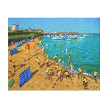 Beach Themed School outing New Quay Wales 2013 Canvas Print