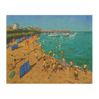 School outing New Quay Wales 2013 Wood Print