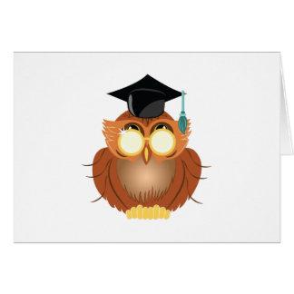 School Owl Greeting Card