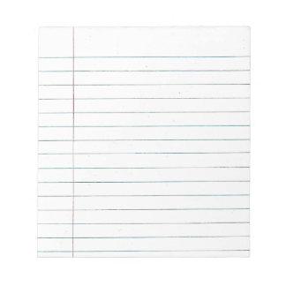 School paper memo pads