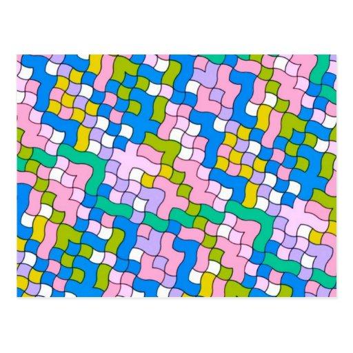 school party soft colors postcard
