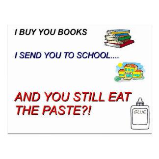 School Paste Postcard