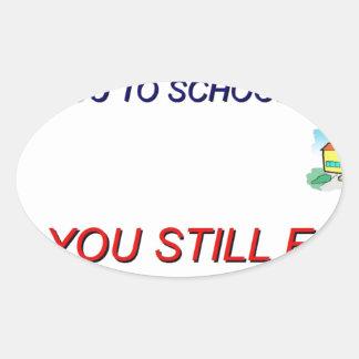 School Paste Oval Sticker