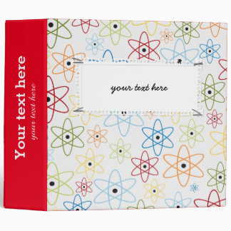School pattern 3 ring binder