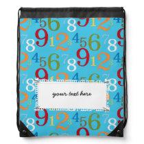 School pattern drawstring bag