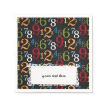 School pattern paper napkin