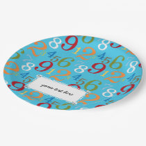School pattern paper plate