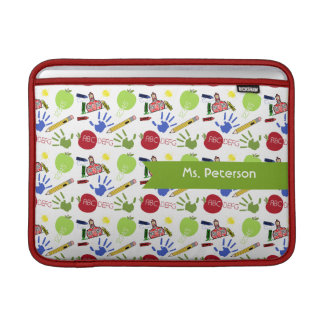 School Pattern Teacher Macbook Air Sleeve