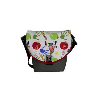 School Pattern Teacher Mini Messenger Bag