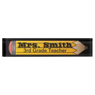 School Pencil Name Plate
