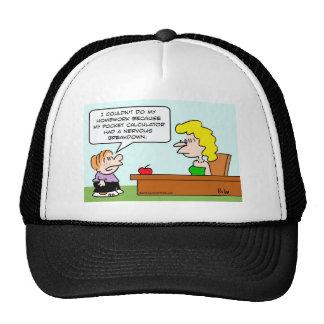 school pocket calculator homework trucker hat