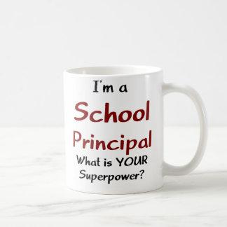 School principal classic white coffee mug