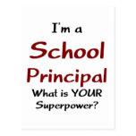 School principal postcard