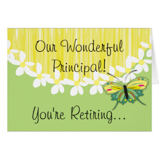 School Principal Retirement Card
