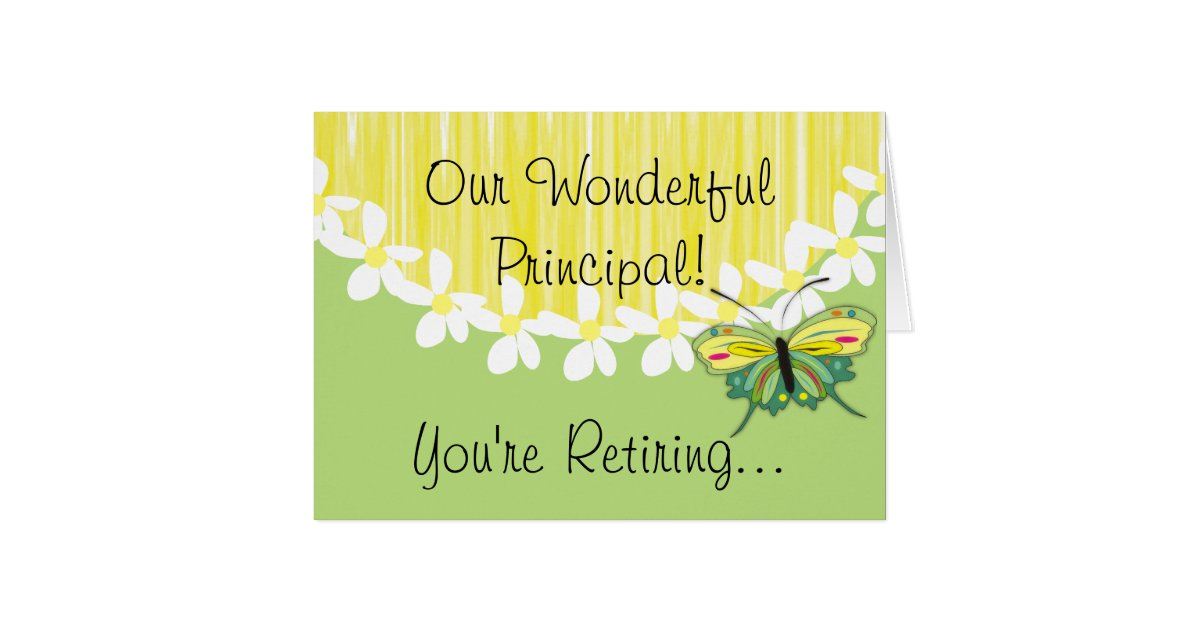 School Principal Retirement Card | Zazzle