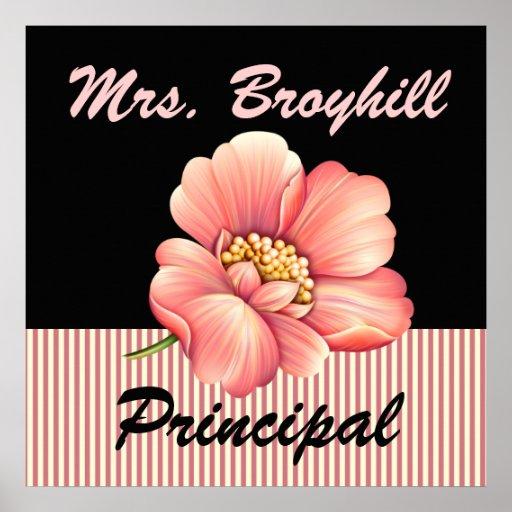 School - Principal - Teacher Welcome - SRF Posters