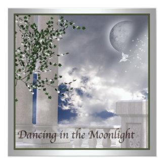 School Prom Invitations Moonlight Dance Prom